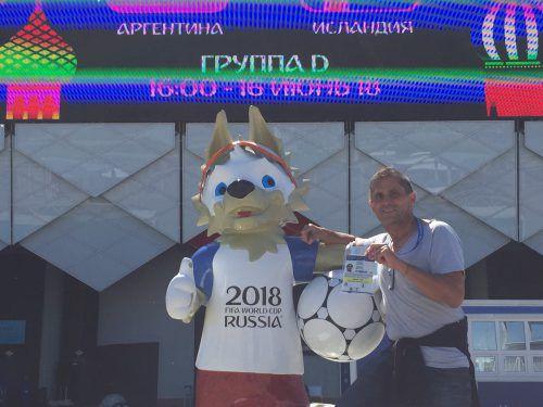 Ein Fotomotiv mit Sabiwaka, dafür braucht es in den WM-Tagen auch etwas Geduld.privat