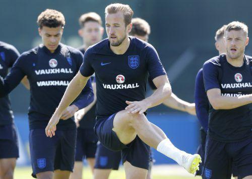 """Es wird viel spekuliert vor dem Duell zwischen England und Belgien um den Gruppensieg. Aber eines ist fix: Englands Goalgetter Harry Kane wird gegen die """"roten Teufel"""" spielen. ap"""
