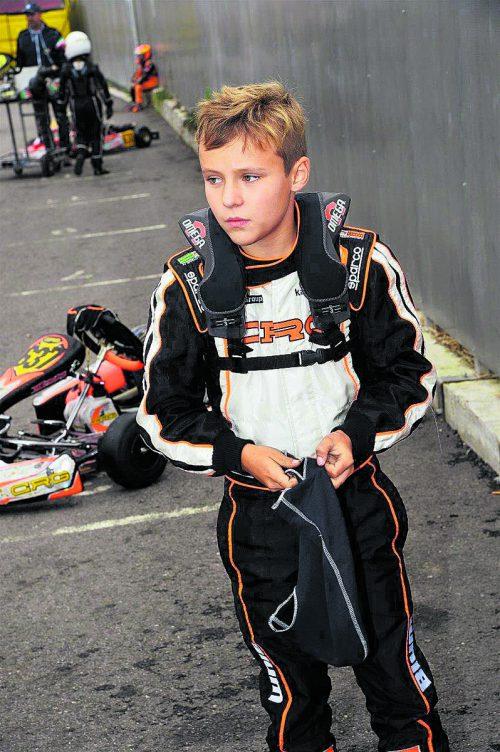 F1-Grid-Kid in Spielberg: Kiano Blum aus Fußach. BK/DG