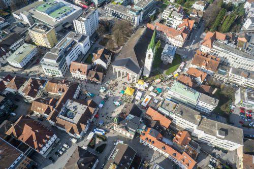 Die Stadtpolitik will durch bauliche Maßnahmen die Attraktivität der Innenstadt verbessern.VN/Hartinger