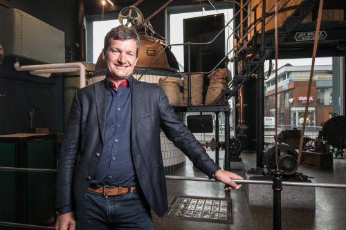 Mohren-Chef Heinz Huber will auch die Biererlebniswelt erweitern.VN/Sams
