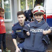 Kinderpolizei in Aktion