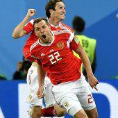 Russland besiegt Ägypten mit 3:1 und stößt Tür ins Achtelfinale ganz weit auf. C1–4