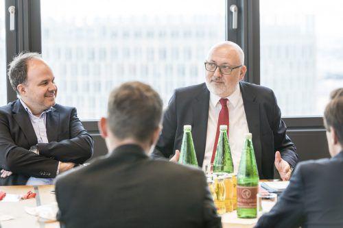 ÖBB-Chef Andreas Matthä im Gespräch mit den Chefredakteuren der Bundesländerzeitungen, für die VN Gerold Riedmann. Mirjam Reither