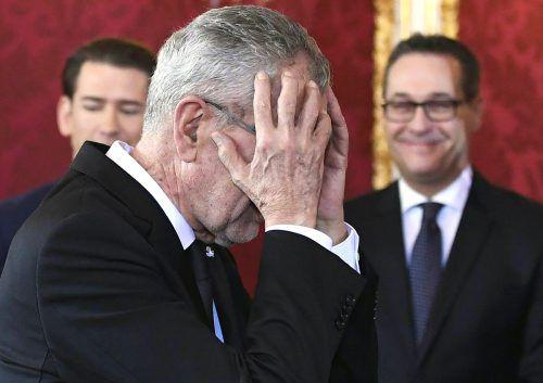 Bundespräsident Van der Bellen kritisierte im VN-Interview die FPÖ-Untergriffe gegen den EU-Kommissionspräsidenten. APA
