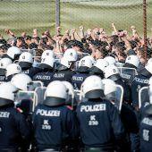 Grenzschutzübung als Signal