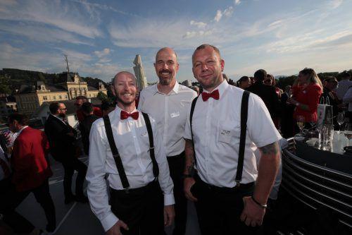 Florian Rupp, Christoph Schenkenbach und Martin Ferrari.