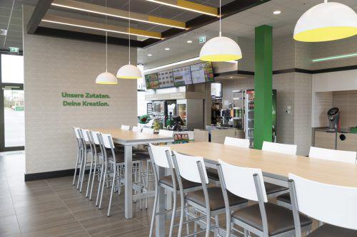 Frisches Design soll Gäste in die Sandwich-Restaurants bringen. Firma