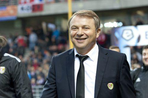 Früher ging Teddy Pawlowski in der polnischen Bundesliga und im Nationalteam auf Torjagd. Heute ist er Trainer beim Erstligisten Slask Breslau.VN