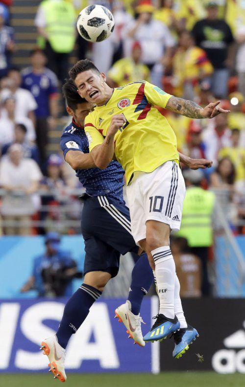 Ganz Kolumbien hofft, dass ihr Superstar James Rodriguez in Form kommt.ap