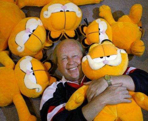 Garfields geistiger Vater, Jim Davies, veröffentlichte den ersten Comic-Strip mit dem faulen Kater am 19. Juni 1978. AP
