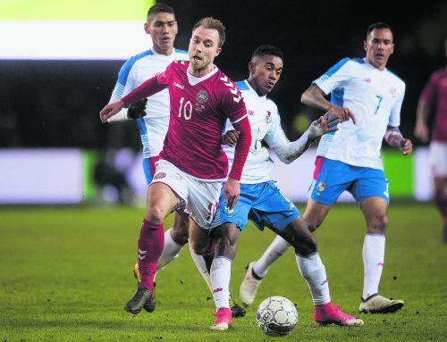Gegen Peru gewonnen, aber nicht toll gespielt: Christian Eriksen.ap