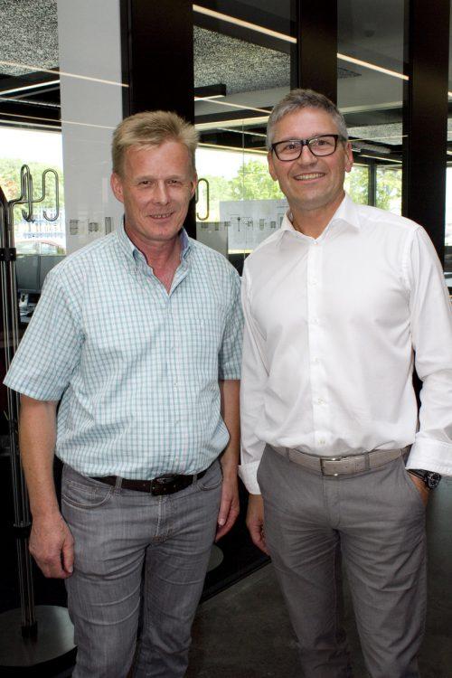 Gerold Welte (Bundesimmobilien) und Frank Huchler (Gunz).