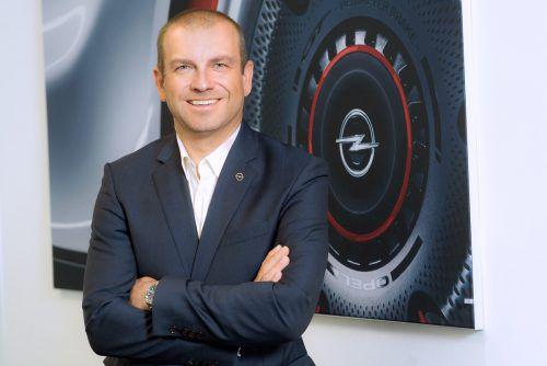 Geschäftsführer Alexander Struckl (48) sieht Opel in einer Konsolidierungsphase mit optimistischen Zukunftsaussichten.opel