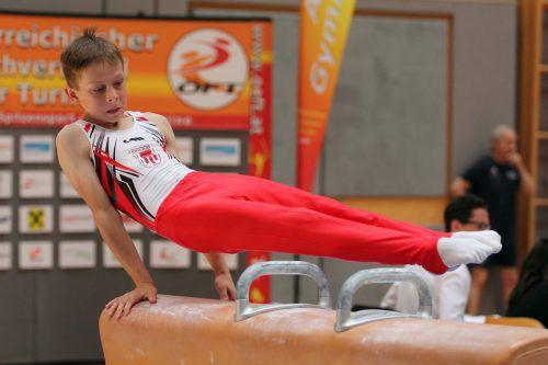 Gino Vetter sicherte sich Gold im Einzel und im Team der Unter-14-Klasse.ÖFT/ Koglmann