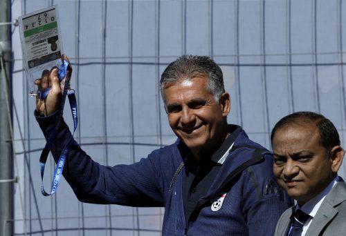 Glaubt an den ersten Sieg: Irans Trainer Carlos Queiroz. AP