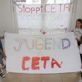 Mittelschüler machen gegen CETA mobil