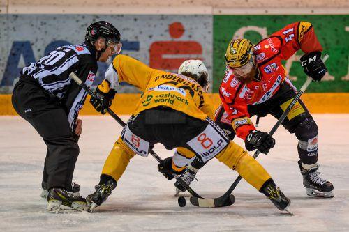Harter Kampf beim Match VEU Feldkirch gegen HC Pustertal. Wird diesem Sport im Land zu wenig Bedeutung beigemessen?