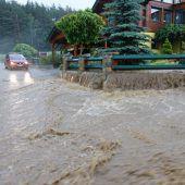 Heftige Unwetter forderten ein Todesopfer