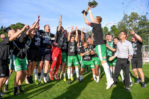 Im Bregenzerwald wurde nach dem zweiten Titel in Folge ordentlich gefeiert.VN/Lerch