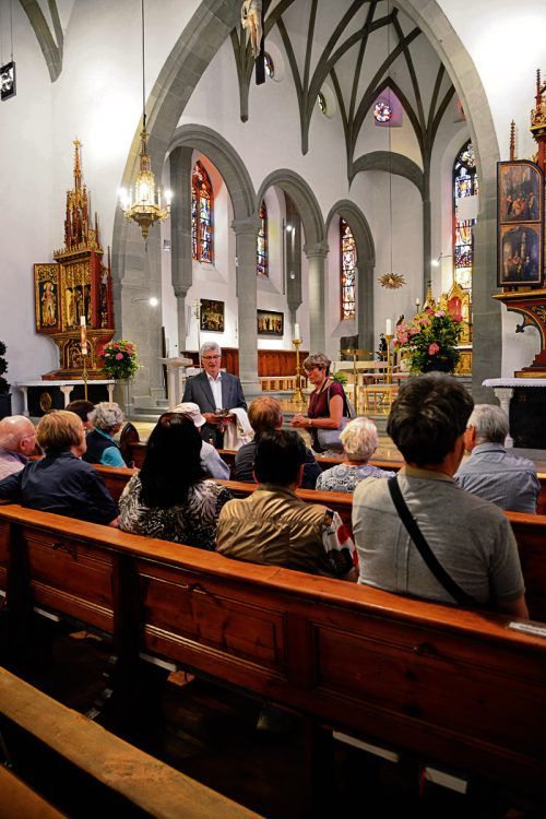 In Feldkirch fand eine Spezial-Kirchenführung für Blinde statt. VF