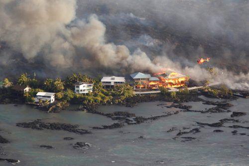 Insgesamt wurden auf Hawaii seit der Eruption am 3. Mai rund 400 Häuser zerstört.