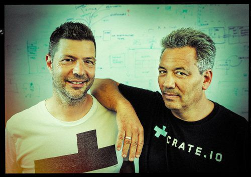 Die Vorarlberger Crate.io-Gründer Jodok Battlogg und Christian Lutz. crate.io