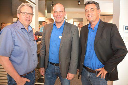 Josef Fessler, Filialleiter Klaus Pirker, Verkaufsleiter Andreas Loretz.