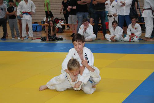 Junge Judokas zeigten auf der Matte ihr Können. HE