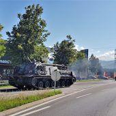 Panzer sorgten in Rankweil für Aufsehen