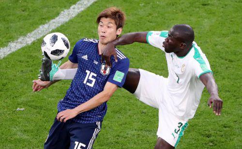 Keinen Sieger gab es zwischen Japan und Senegal – dafür einige Härteeinlagen.reuters