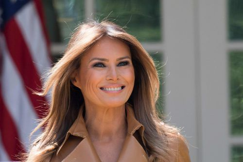 Könnte es sein, dass sich Melania Trump von der Operation erholt? afp