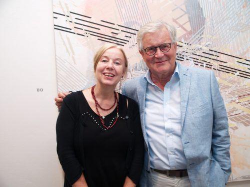 Künstlerin May-Britt Nyberg Chromy und Georg Beresnewitsch.