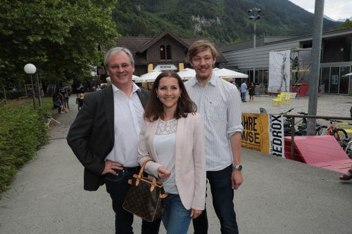 LT-Präsident Harald Sonderegger (l.), Andrea Ruckendorfer und Nikola Bartenbach.