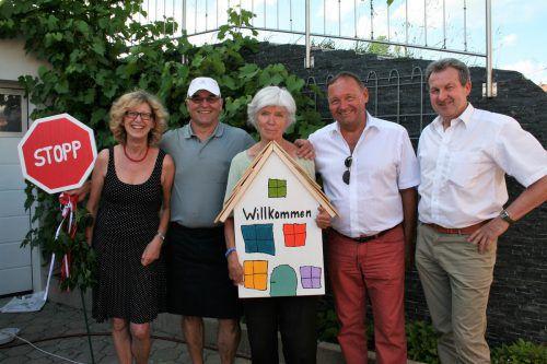 Maria Nußbaumer (LWL-Team), Gebi Nußbaumer (Café Stopp), Anne-Kathrin Schneider, Bgm. Kurt Krottenhammer, Dr. Gebhard Bechter. mo