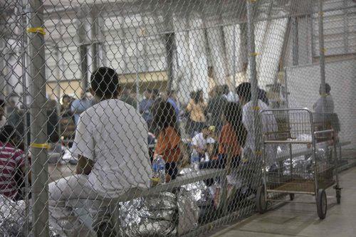 Migrantenkinder in einem Auffanglager in Texas. Die US-Einwanderungspolitik sorgt derzeit für Aufregung. AFP