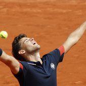 Thiem schaffte Paris-Viertelfinal-Hattrick
