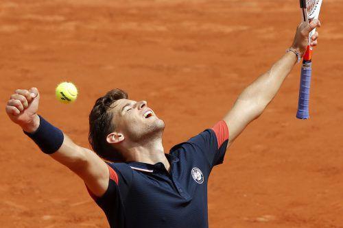 Nach 2016 und 2017 erreichte Dominic Thiem auch in diesem Jahr das Viertelfinale der French Open in Paris.AFP