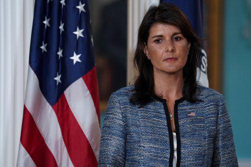 Nikki Haley verkündete den Bruch der USA mit dem UN-Gremium. reuters