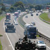 Panzer auf Vorarlbergs Straßen