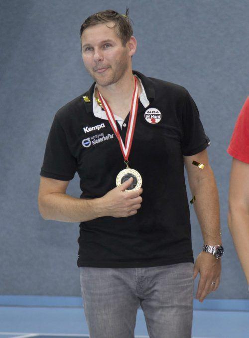 Petr Hrachovec holte mit Hard je einen Titel in der HLA bzw. im Super- und ÖHB-Cup.Köss
