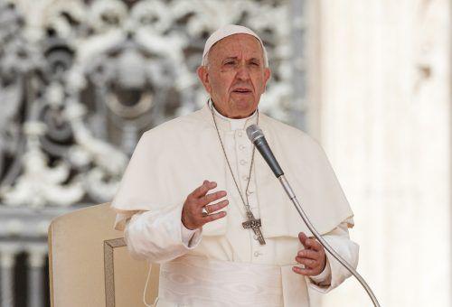 """""""Populismus ist nicht die Lösung"""", sagte der Papst. AP"""