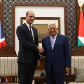 Prinz William traf Mahmoud Abbas