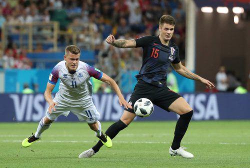 RB Salzburg-Spieler Duje Caleta-Car spielte für Kroatien gegen Island von Beginn an.afp