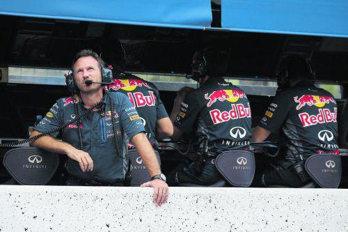 Red Bulls Teamchef Christian Horner blickt mit dem neuen Motorenpartner Honda in die Zukunft.ap