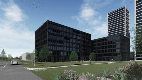 Rendering des 'Hochbord'-Bauvorhabens, das Goldbeck Rhomberg für die ADT Innova Immobilien- & Verwaltungs AG umsetzt. Der Wert des Auftrags liegt bei 30 Mill. CHF. GR
