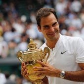 Federer greift nach neuntem Titel aufheiligem Rasen