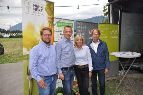 Roland Köfler, Georg Geutze, Birgitt Werle und Bürgermeister Florian Kasseroler.hab