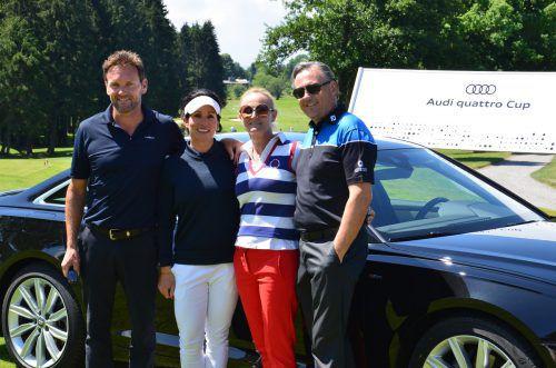 Roland Kornexl (l.), Christina Hausner sowie Beate Liepert und Gerhard Neudorfer.
