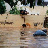 Überschwemmungen in Urlaubsregion